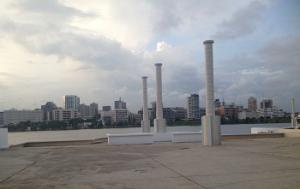 Vue d'Abidjan du Palais de la culture/Côte d'Ivoire