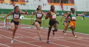 Arrivée Finale 100 m Haies @CIJF