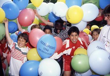 Jeunes spectateurs, Jeux de la Francophonie France 1994 © CIJF/ F. Assimon
