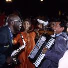 Manu Dibango, cérémonie d'ouverture des IIèmes Jeux de la Francophonie, Paris 1994 © CIJF/ F. Assimon