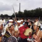 Visite de Paris par les délégations, Jeux de la Francophonie France 1994 © CIJF/ F. Assimon