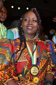 FANIE FAYAR, médaillée d'or dans la discipline Chanson des VIIIes Jeux de la Francophonie