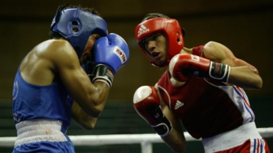 Boxe -64kg : Maroc VS France, Jeux de la Francophonie Liban 2009 © CIJF/ Jean-Yves Ruszniewski