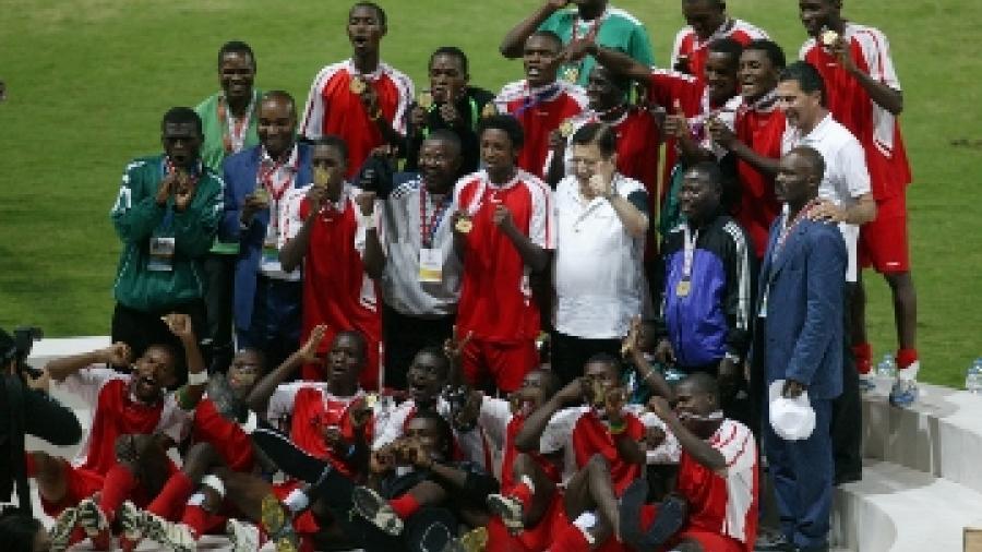 L'équipe junior du Congo (football) médaillée d'or, © CIJF/ Jean-Yves Ruszniewski
